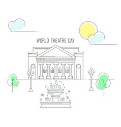 world theatre day vector image vector image