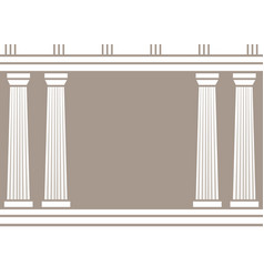 double classic pillars arc isolated on brown vector image vector image