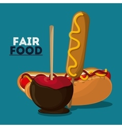 Fair food snack carnival design vector
