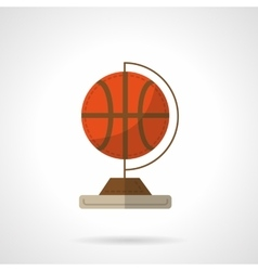 Globe with basketball flat design icon vector image