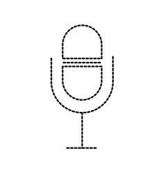 microphone sound music volume app vector image