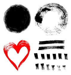 Set of ink paint frames vector image