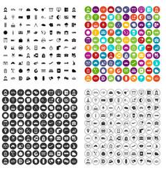 100 dispatcher icons set variant vector