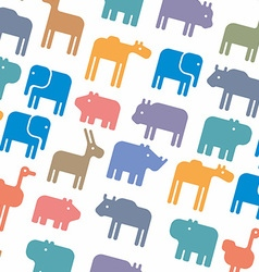 animals silhouette seamless pattern vector image