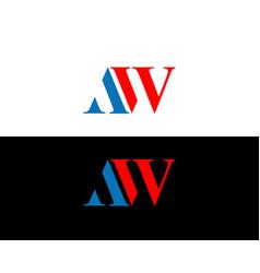 Aw logo template design and icon vector