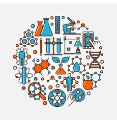 Biotechnology flat round symbol vector
