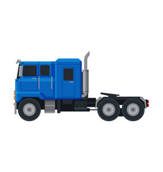 blue truck side view cargo delivery cargo vector image