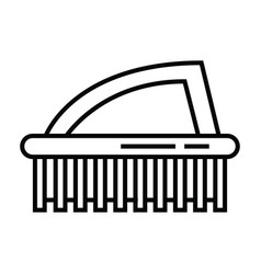 Brushes toilet cleaning icon vector