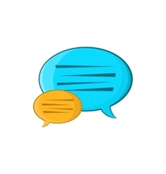 Bubble speech icon cartoon style vector