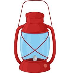 Camp lantern vector image