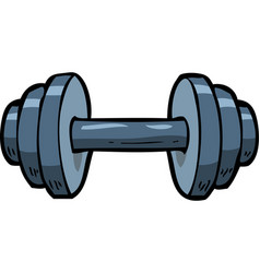 cartoon doodle dumbbell vector image