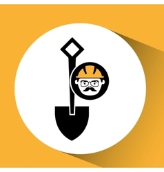 Construction man and shovel graphic vector