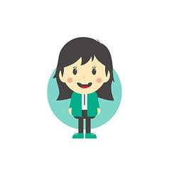 cute girl cartoon character vector image