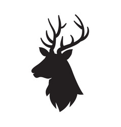 Deer icon isolated head silhouette vector