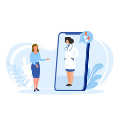 Doctor online isolated vector