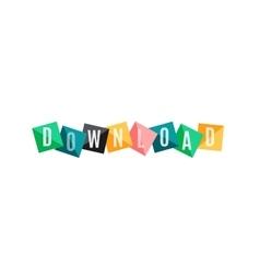 Download word banner vector