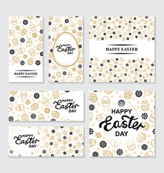 easter flaers set vector image