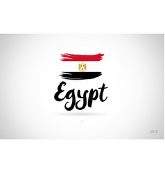 egypt country flag concept with grunge design vector image