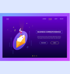 Email marketing - modern isometric web vector