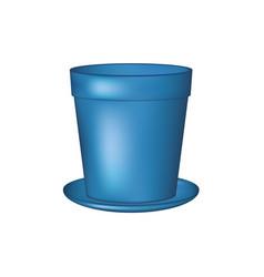 Empty flowerpot in blue design vector