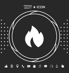 fire flame icon graphic elements for your vector image