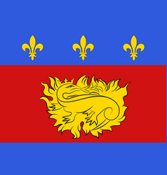 Flag of sarlat-la-caneda in dordogne of vector