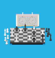 flat chess set vector image