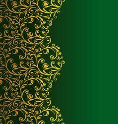 Floral seamless decorative border vector image