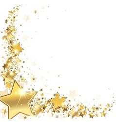 Frame gold stars vector