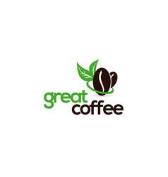 fresh bean coffee logo vector image