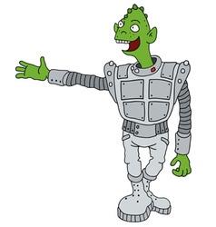 Funny green alien vector