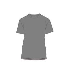 grey blank t-shirt fashion style item vector image