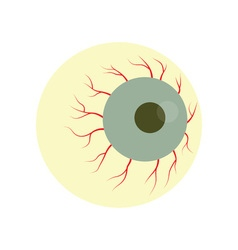 Halloween zombie eye vector