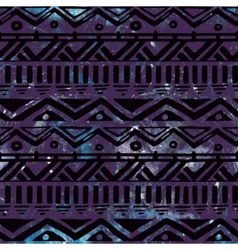 Hand Drawn Black Aztec Tribal Seamless Background vector image