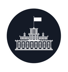 icon with government house vector image