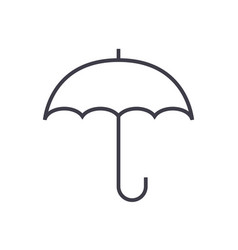 insurance umbrella line icon sign vector image