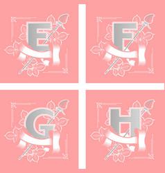letters alphabet flower vector image