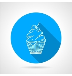Line icon for muffin vector image