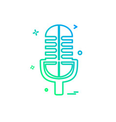 mic icon design vector image