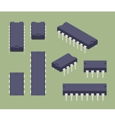Microchips vector