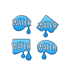 natural spring water logo labels and stickers vector image
