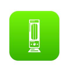 Oil heater icon green vector
