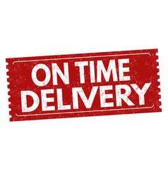 On time delivery sign or stamp vector