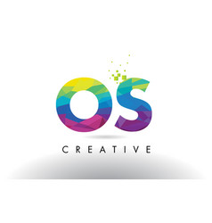 Os o s colorful letter origami triangles design vector