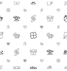 palm icons pattern seamless white background vector image