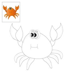 Picture for coloring crab vector