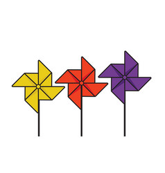 pinwheel vector image
