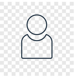 profile concept linear icon isolated on vector image