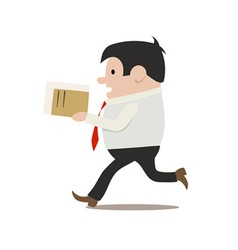 running clerk vector image