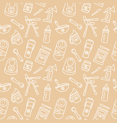 seamless background on theme baby vector image